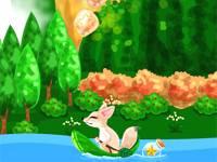 Fox on river