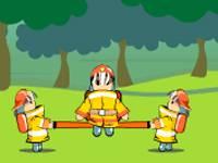 Odbijający się strażacy