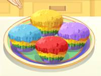 Tęczowe muffiny