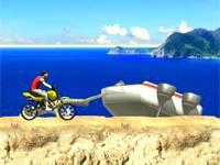 Motorem po plaży