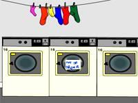 Uwięziony w pralni